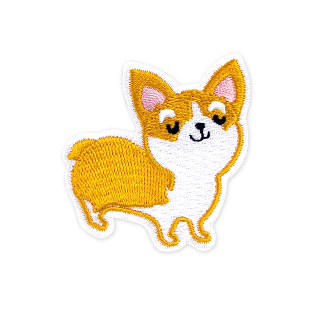 [PROMO] Corgi Dog Iron-On Patch