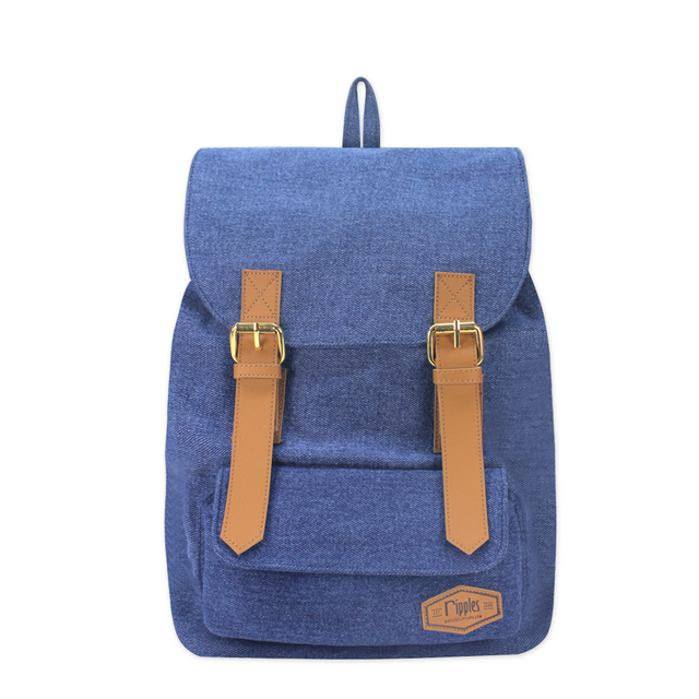 Hue Basic Ladies Backpack (Mid Wash Denim)