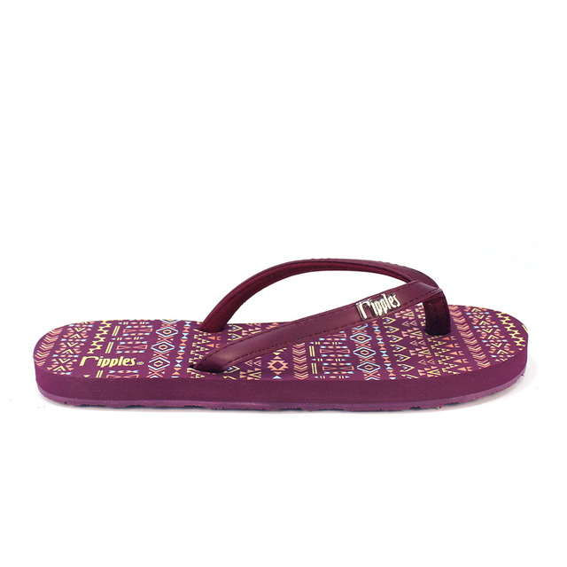 [SALE] Arika Aztec Ladies Flip Flops (Maroon Purple)