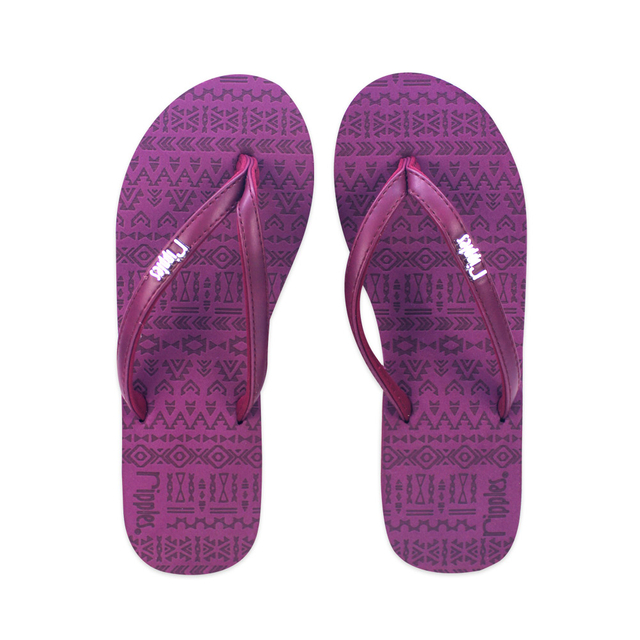 Arika Aztec Laser Ladies Flip Flops (Maroon)