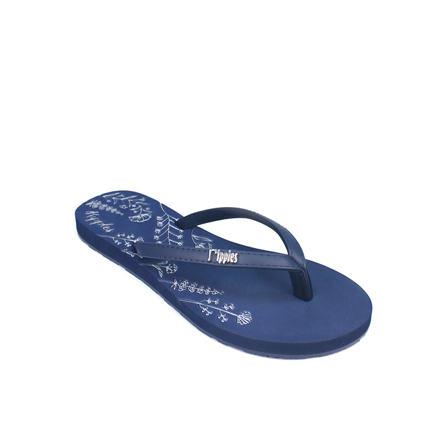 [SALE] Estella Floral Ladies Sandals (Navy Blue)
