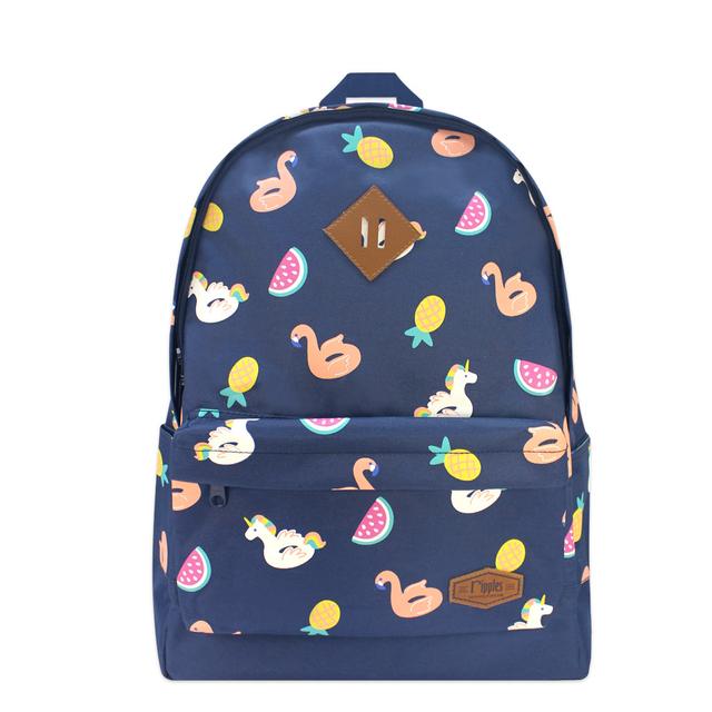 [SALE] Summer Floats School Backpack (Navy Blue)