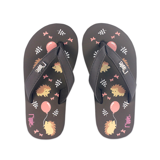 [SALE] Hedgehog Little Kids Flip Flops (Brown)