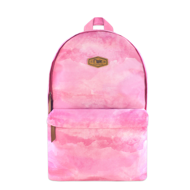 Clouds Watercolour Digital Print Backpack (Sunset Pink)