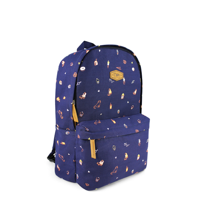 [PROMO] Tiny Things Canvas Backpack (Navy Blue)