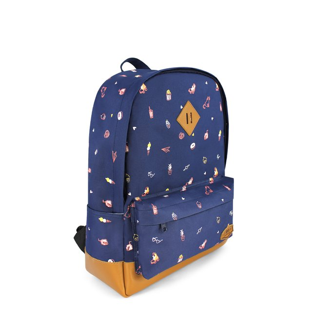 [PROMO] Tiny Things  School Backpack (Navy Blue)