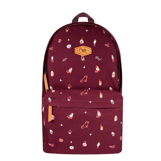 [PROMO] Tiny Things Canvas Backpack (Maroon)