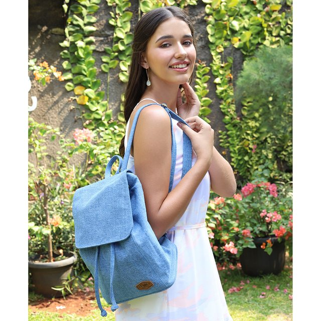 Rayne Basic Ladies Backpack (Light Wash Denim)