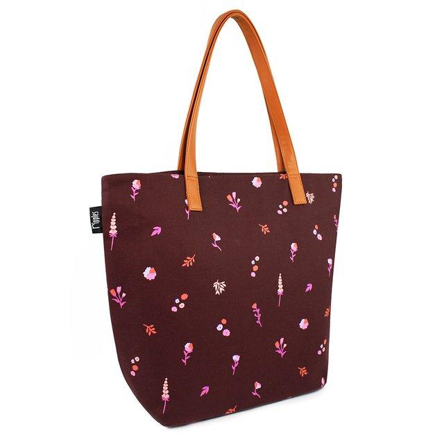 [PROMO] Alyssa Florals Tote Bag (Maroon)