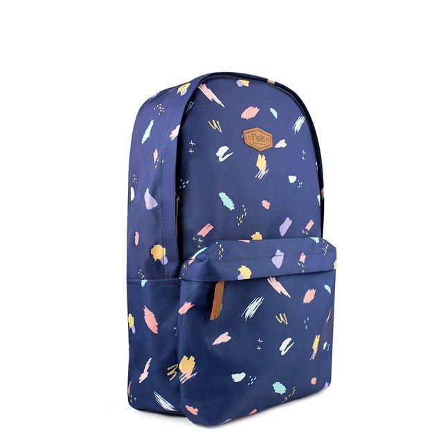 [PROMO] Scribble Brushstrokes Digital Print Backpack (Navy Blue)