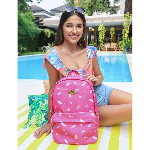 [PROMO] Scribble Brushstrokes Digital Print Backpack (Pink)