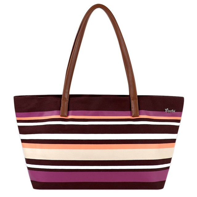 Lynette Stripes Handbag (Maroon)