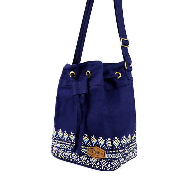 Astrial Aztec Bucket Sling Bag (Navy Blue)