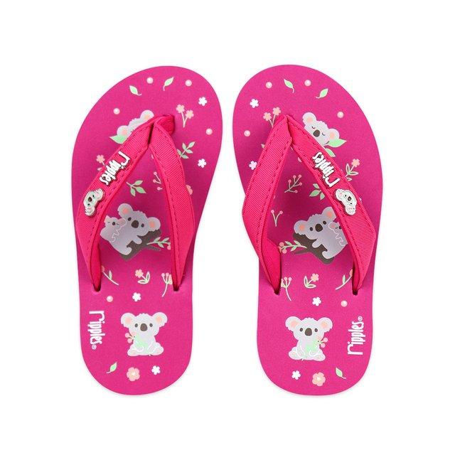 Koala Bear Little Kids Flip Flops (Pink)