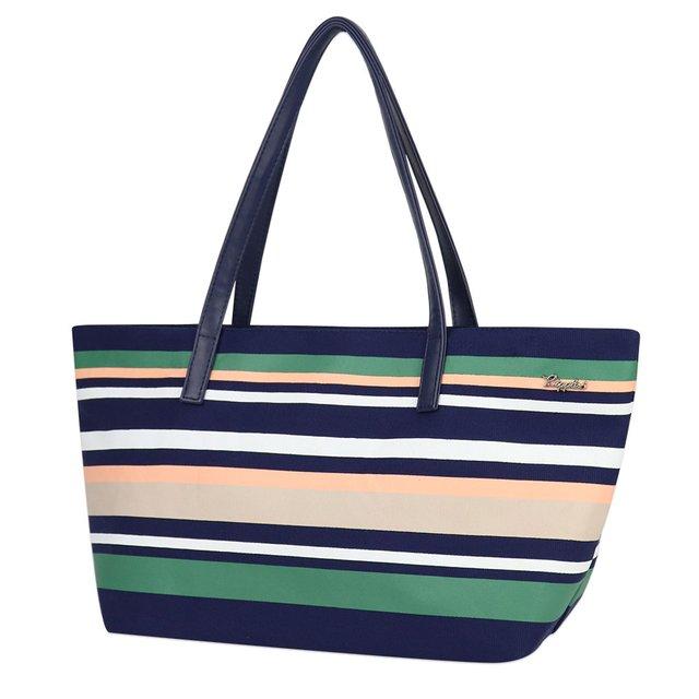 Lynette Stripes Handbag (Navy Blue)