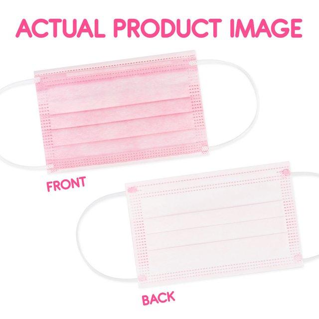 [50pcs] Children 3 Ply Disposable Face Mask (Plain Pink)