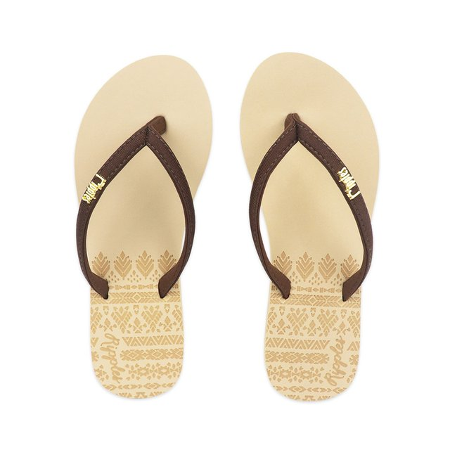 Astrial Aztec Laser Embossed Ladies Sandals (Beige)