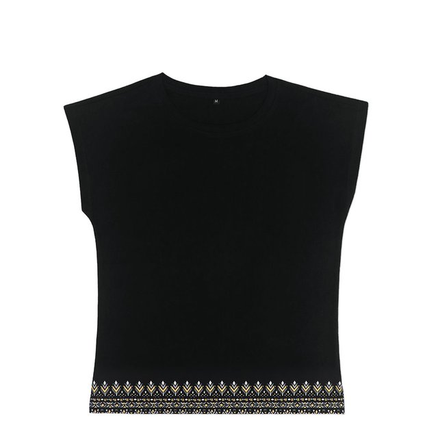 [PROMO] Astrial Aztec Ladies Relaxed Short Sleeve T-Shirt (Black)