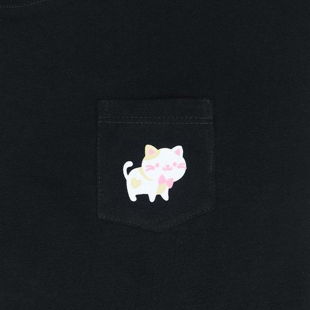 [PROMO] Kittens Ladies Relaxed Short Sleeve Pocket T-Shirt (Black)