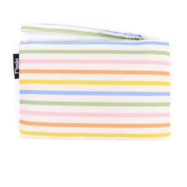 [PROMO] Colourful Lines Essential Pouch (Cream)