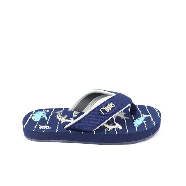 Sharks Little Kids Flip Flops (Navy Blue)