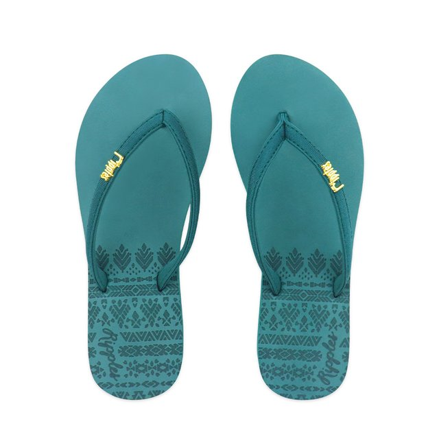 Astrial Aztec Laser Embossed Ladies Sandals (Dark Forest Green)